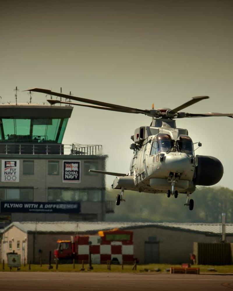 Merlin helicopter at RNAS Yeovilton